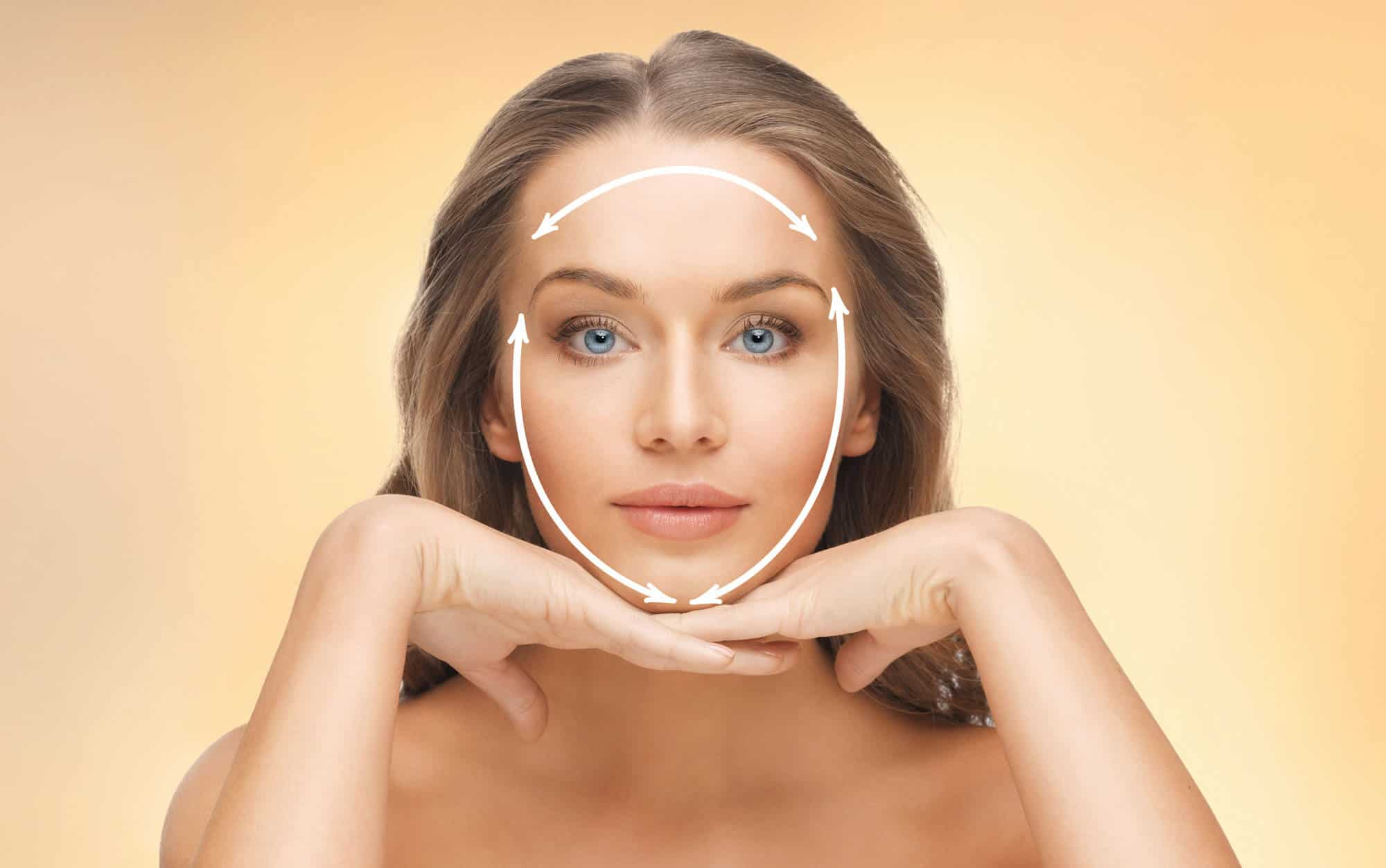 non-surgical-facelift-glasgow - Woman with improvement lines marked on face